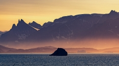 Sunrise Light in Scoresby Sund