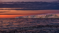 Sunset in Svalbard