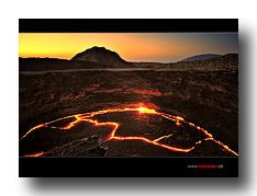 Krater des Erta Ale Vulkans