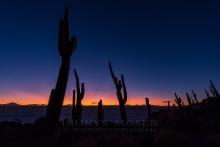 Sonnenuntergangsstimmun güber dem Salar de Uyuni