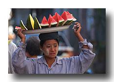 Melonenverkäuferin