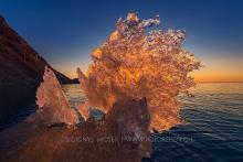 Blaueis bei Sonnenuntergang
