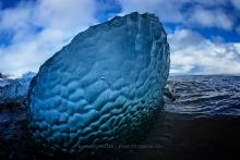 Das blaue Eis-Ei