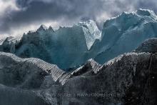 Eisberge gezackt